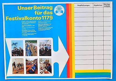 DDR Plakat Poster 1134 | Festivalkonto DEWAG Halle 1978 | 81 x 57 cm Original