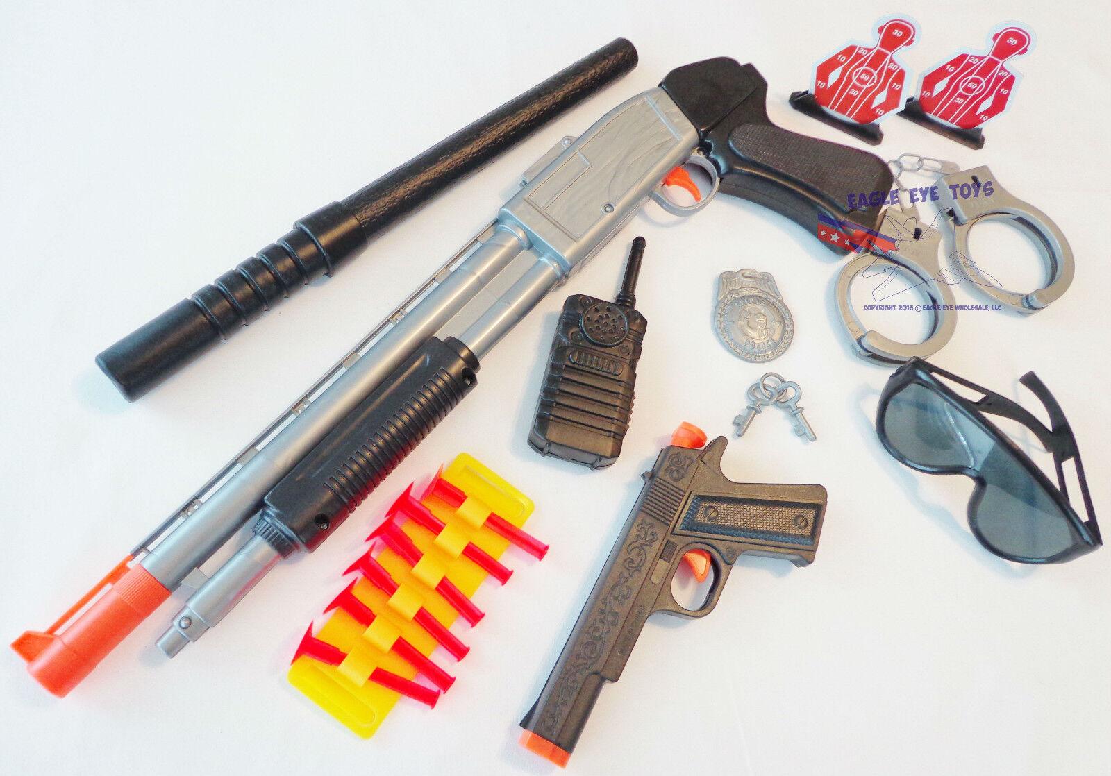 3x Toy Guns Sawed-Off Shotgun /& Revolver Cap Gun Set Electronic M1 Toy Rifle