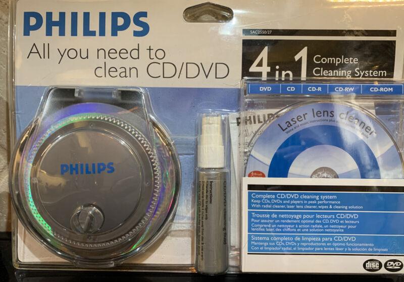 Philips CD DVD XBOX Game Radial  Cleaner Flip-top Non-Electric Gentle Desktop