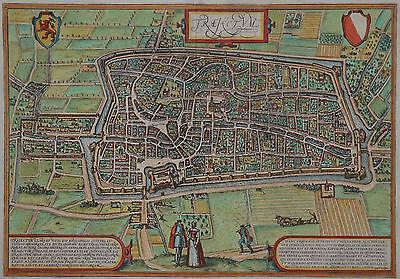 Utrecht - Trajectum - Braun und Hogenberg - Originale Ansicht um 1580 - Selten