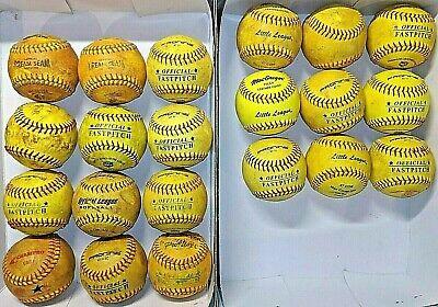 21 Used Fast Pitch Softballs 11