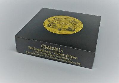 Mariage Freres - CHAMOMILLA - Box 30 muslin tea sachets / (Organic Muslin Tea Bags)