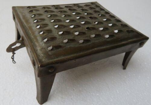 Vtg GRATER SHREDDER Coconut SCRAPER Brass Rectangular mini table type Kitchen