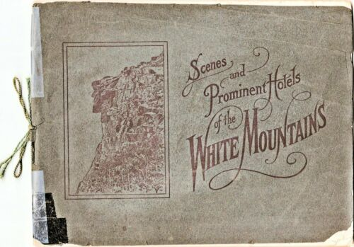 1903 White Mountains NH Scenes & Prominent Hotels CG White Photograph Book 32p.