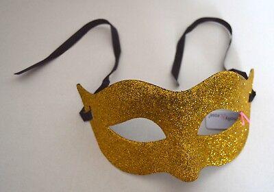 NEW Simple gold glitter Masquerade Mask Eye Gothic halloween fancy dress
