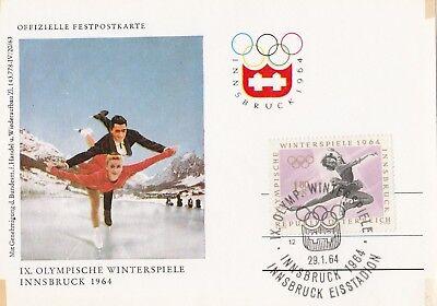 Marika Kilius + Hans-Jürgen Bäumler IX Olympische Winterspiele Innsbruck 1964