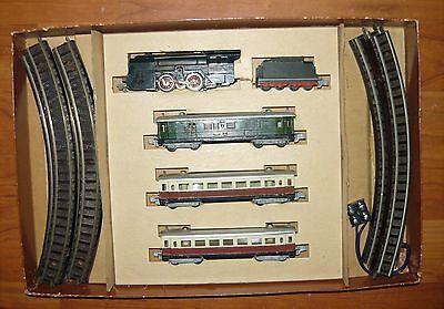 Rokal, Startset von 1948, Stromliniendampflok+3 Wagen, TT, rar, gebraucht&in OVP