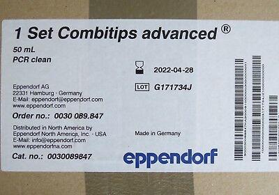 Case 100 Eppendorf Combitips Advanced Pipette Tips 50ml 0030089847