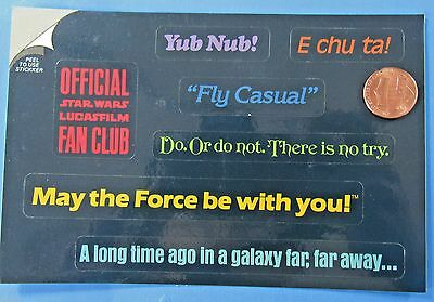STICKERS '85 vintage Star Wars Return of the Jedi fan club PHRASES Bantha Tracks