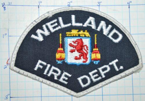 CANADA, WELLAND FIRE DEPT PATCH