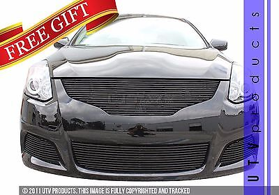 GTG Gloss Black 4PC Billet Grille Grill fits 2010 - 2014 Nissan Altima Coupe 2dr