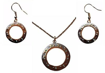 Xena Warrior Princess CHAKRAM Metal Pendant Necklace & Earring Set