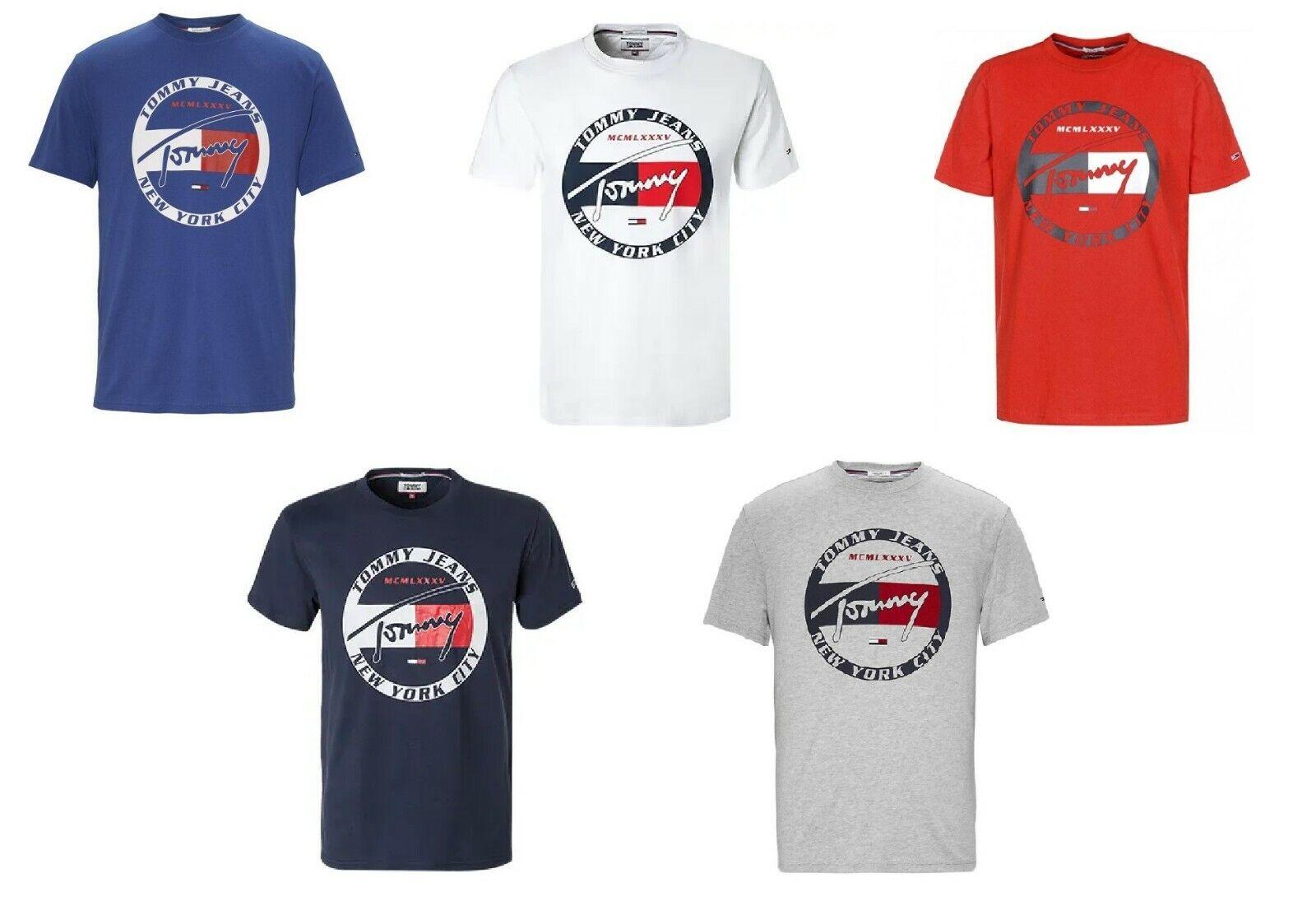 Tommy Hilfiger Herren T-Shirt Circle Graphic Logo 5 Farben Größe XS bis XXL Neu