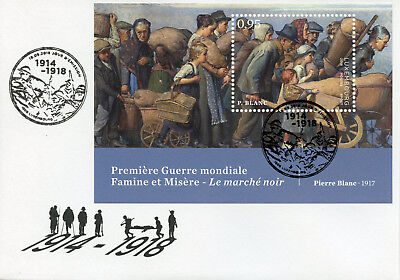 Luxembourg 2018 FDC World War I WWI WW1 Pierre Blanc 1v M/S Cover Art Stamps
