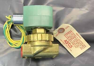 Asco 8220g406 Hot Water Steam Solenoid Valve 12 -120v Normally Closed  2 Way