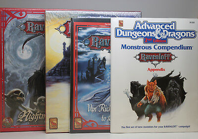 Lot of 4 AD&D 2nd Ed Ravenloft Expansions  *New in Shrink*