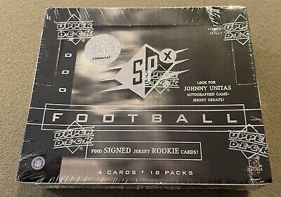 2000 Upper Deck UD SPx Football Factory Sealed Hobby Box Tom Brady RC Rookie Yr