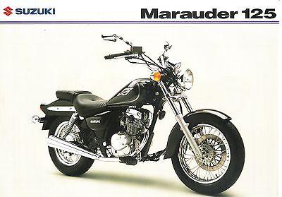 Suzuki GZ125 GB Sales Brochure Marauder 2003 GZ125K3