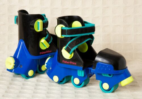 FISHER PRICE Blue GROW WITH ME 94 Adjustable INLINE Training ROLLER SKATES Youth