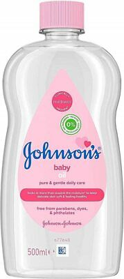 JOHNSON'S Baby Oil 500 ml, Moisturises and Protects Delicate Skin from Dryness