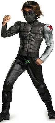 NEW Boys Marvel Captain America The Winter Soldier MUSCLE Halloween Costume- 4/6](The Winter Soldier Halloween Costume)