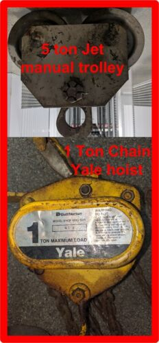 1 Ton Chain hoist with 5 ton Jet manual trolley