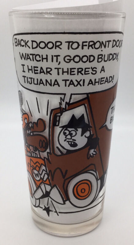 Pizza Hut Glass Rocky & Bullwinkle Boris CB Lingo Police Car Brown Truck