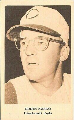 RPPC Baseball Player Eddie Kasko Cincinnati Reds 1960s
