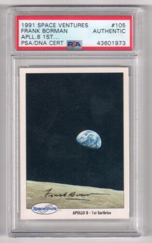 FRANK BORMAN Signed 1990 Space Shots Card PSA Certified Astronaut Autograph