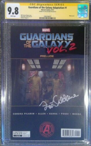 Guardians of the Galaxy Adaptation #1__CGC 9.8 SS__Signed by Zoe Saldana