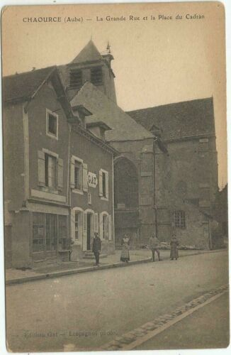 WW1 THE GREAT STREET CHAOURCE (AUBE)  FRANCE POSTCARD