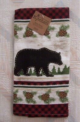 Bear Kitchen Terry Towel Kay Dee Woodland Bear Pattern