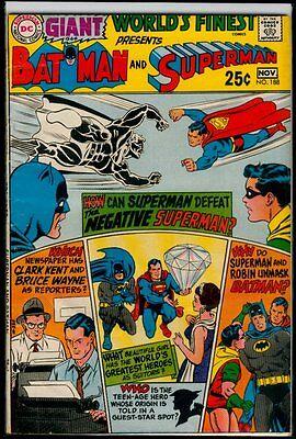 "DC Comics WORLD""S FINEST Presents #188 BATMAN And SUPERMAN VG/FN 5.0"