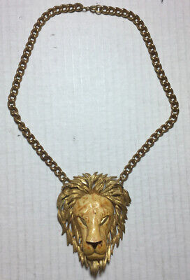 1950s Jewelry Styles and History Vintage RAZZA Lion Necklace 1950's Realistic $50.00 AT vintagedancer.com