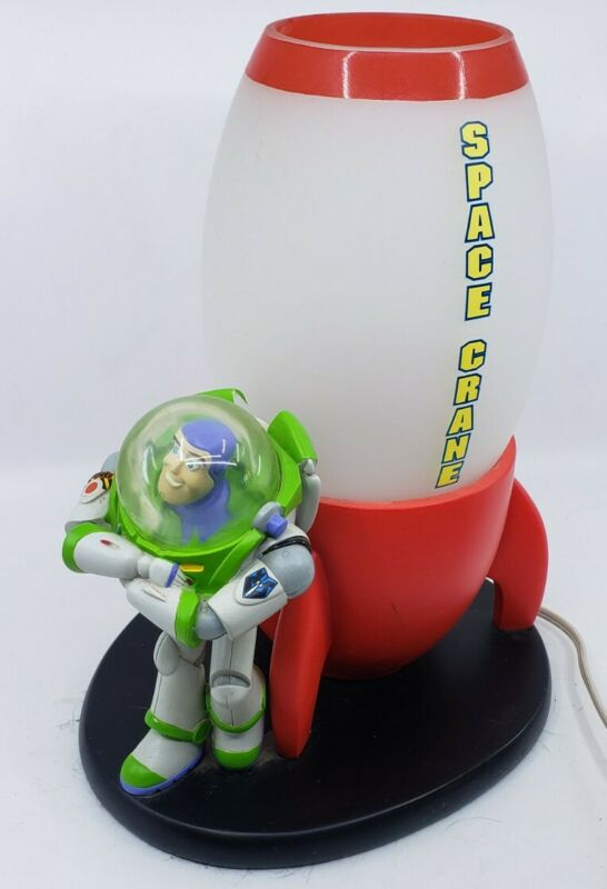 Rare disney pixar Toy story BUZZ LIGHTYEAR SPACE CRANE LIGHT LAMP