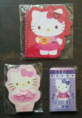 3-pc Hello Kitty Gift Set Notepad Sanrio Note book Note pads Lot Rare