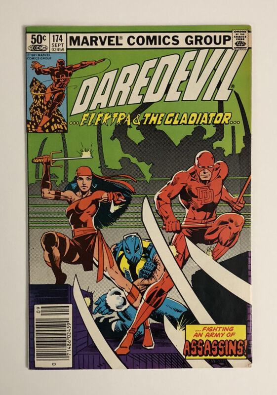 DAREDEVIL #174 VF ELEKTRA /  FRANK MILLER ART 1981 MARVEL COMICS NEWSTAND