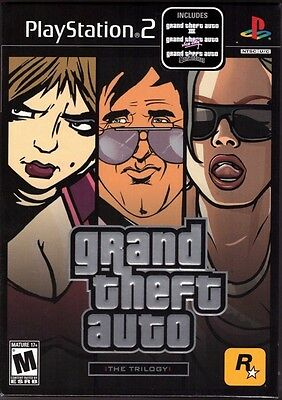 Grand Theft Auto Trilogy  Playstation 2 Ps2  Gta 3  Vice City  San Andreas  New