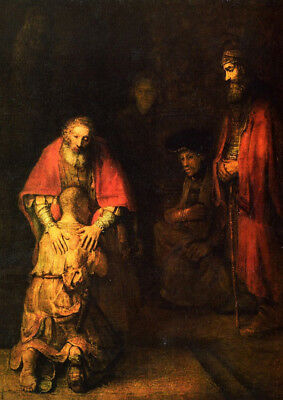 Return of prodigal son by Rembrandt on 230gsm photo quality paper choose size](Prodigal Son Craft)