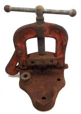 Vintage Ridgid Bench Yoke No 24 Vise 18-3 12 Made In Usa Used