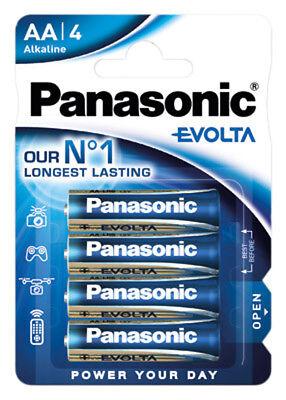 4 x Panasonic Evolta 1,5V AA / Mignon / LR6  Alkaline Batterie