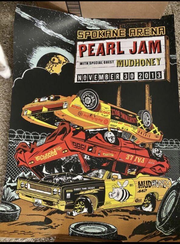 Pearl Jam Spokane WA 2013 Screenprint Poster