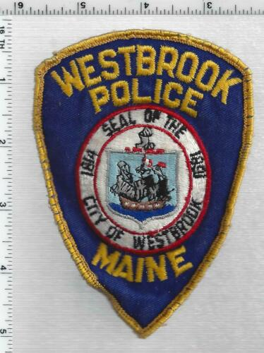 Westbrook Police (Maine) 1st Issue Uniform Take-Off Shoulder Patch