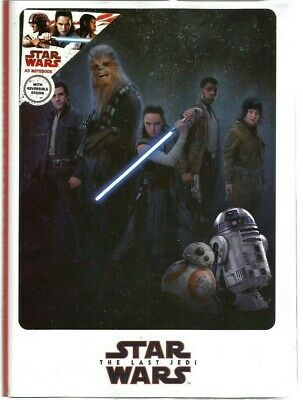Star Wars The Last Jedi A5 Notebook With Reversible Cover: 88 Sheet/80 Gsm..New