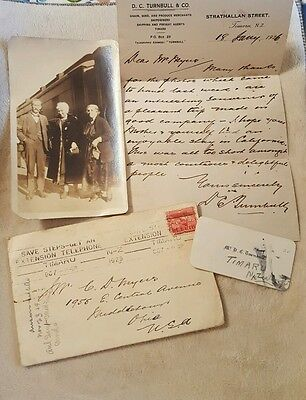 Vintage Antique Correspondence and Photo Timaru, New Zealand to Ohio 1926-1929