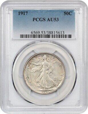 1917 50c PCGS AU53 - Walking Liberty Half Dollar