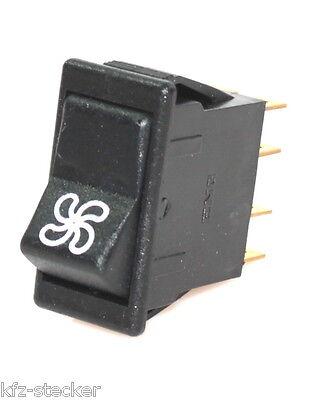 ENG Schalter Wippenschalter Gebläse Lüfter Ventilator 111047 Lüftung 2 Fach 12 V