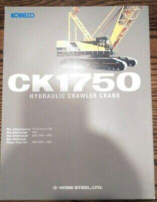 Kobelco Ck1750 Hydraulic Crawler Crane Sales Brochure