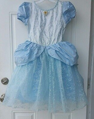 Disney Cindrella Blue Dress Costume Girls Size 6 - 6X NEW - Cindrella Costume