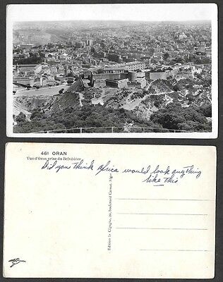 Old Algeria Postcard - Oran - Real Photo, Aerial View